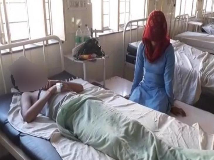 खेतड़ी में टीचर की पिटाई से 12वीं क्लास का छात्र हुआ बेहोश, गंभीर हालत में छात्र को बीडीके अस्पताल करवाया भर्ती|झुंझुनूं,Jhunjhunu - Dainik Bhaskar