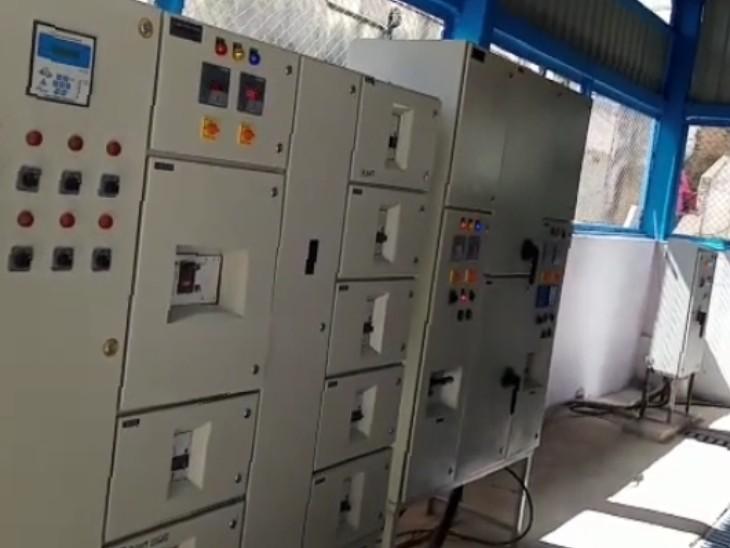 हाॅस्पिटल में लगा ऑक्सीजन प्लांट। - Dainik Bhaskar