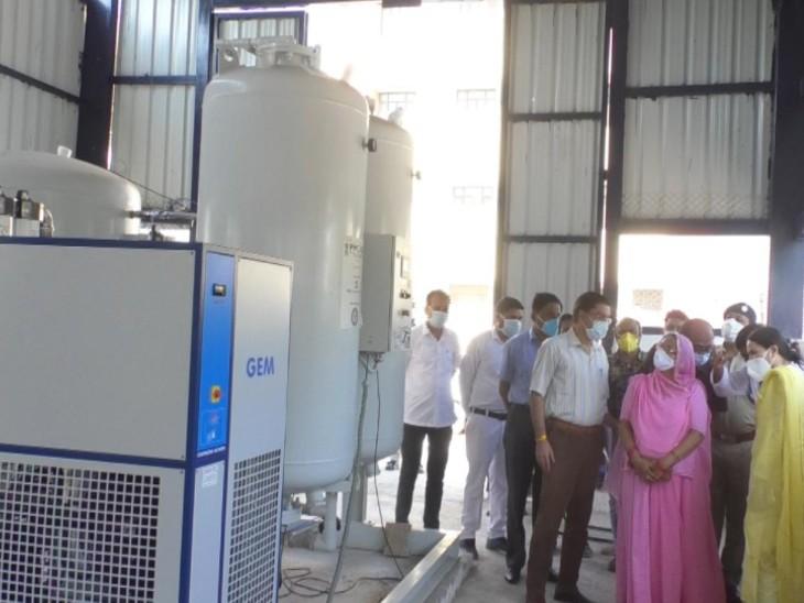 बूंदी जिले में ऑक्सीजन की कमी होंगी दूर, हॉस्पिटल मे लगे प्लांट का वर्चुअल लोकार्पण, कलेक्टर ने किया निरीक्षण|बूंदी,Bundi - Dainik Bhaskar