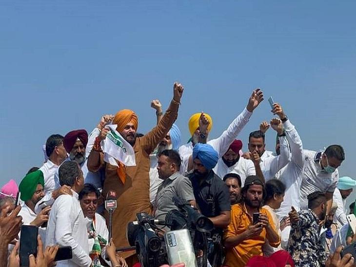 पंजाब से हरियाणा पहुंचा नवजोत सिद्धू का काफिला; सहारनपुर से UP में घुसने की होगी कोशिश, CM चन्नी शामिल होकर लौटे|जालंधर,Jalandhar - Dainik Bhaskar