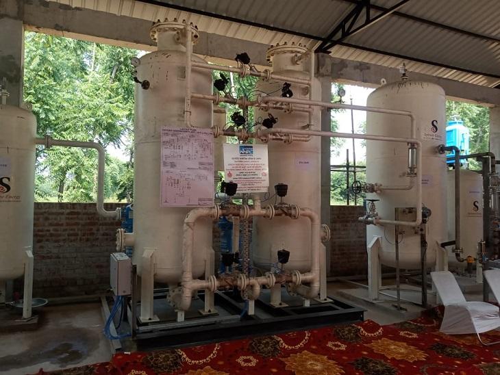 बीके अस्पताल में एनएचपीसी के सहयोग से लगाया गया ऑक्सीजन प्लांट