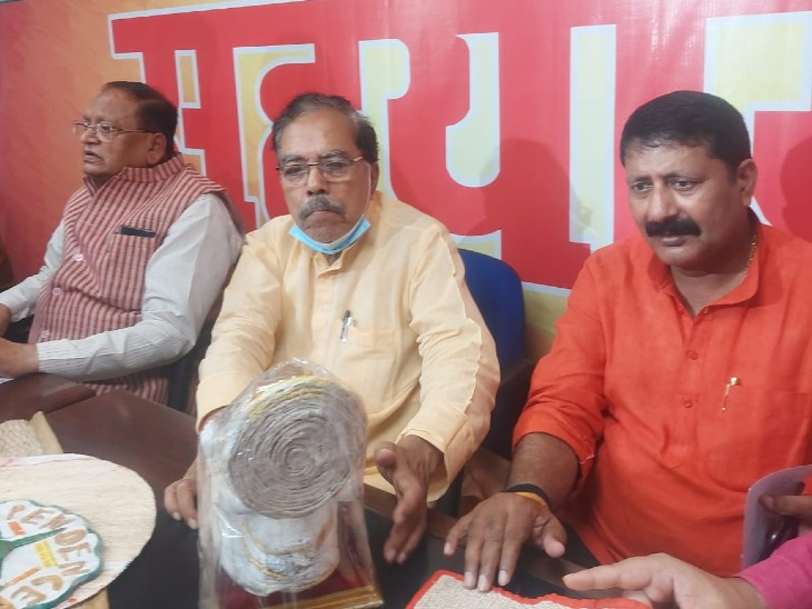 नवरात्र में सजा माता का दरबार तो भाजपा ने बंद किया अपना जनता दरबार, कहा- नवरात्र के कारण जनता दरबार रहेगा स्थगित|बिहार,Bihar - Dainik Bhaskar