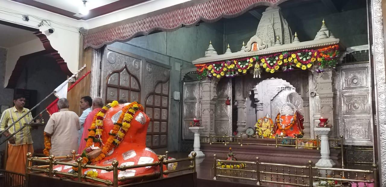 जुमेराती के काली मंदिर में सतचंडी महायज्ञ आज से, भगवती के स्वागत में सजाया द्वार, सलकनपुर पैदल यात्रा शुरू|होशंगाबाद,Hoshangabad - Dainik Bhaskar