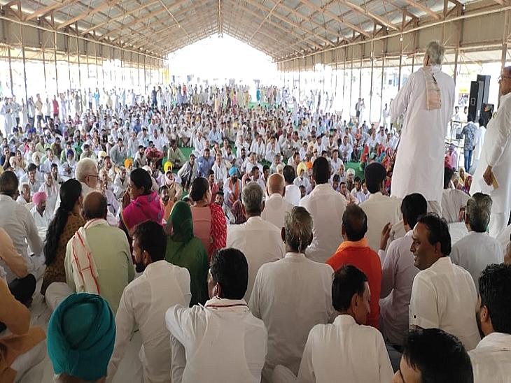 UP में किसान हिंसा को मुद्दा बना रही कांग्रेस ने सुलझाया पानी का मुद्दा, 10 दिन से चल रहे गंगानगर-हनुमानगढ़ के किसानों की मांगे मानी|राजस्थान,Rajasthan - Dainik Bhaskar