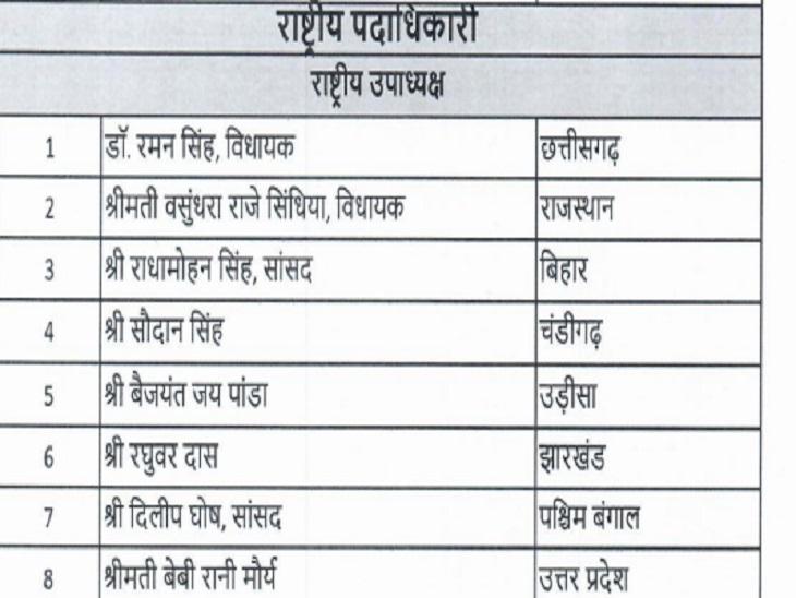 रमन सिंह का नाम भी शामिल।