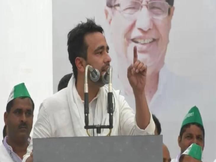 हापुड़ में जयंत चौधरी ने जनसभा को किया संबोधित। - Dainik Bhaskar