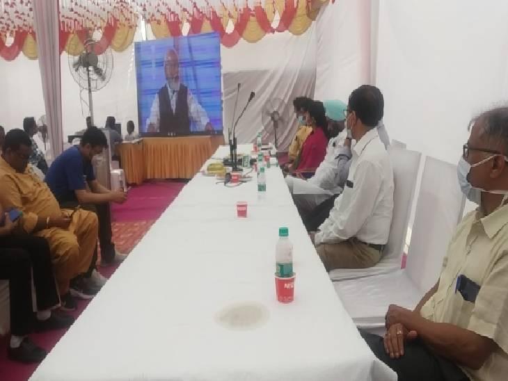 रामपुर में ऑक्सिजन प्लांट का हुआ उद्घाटन। - Dainik Bhaskar