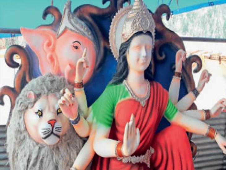 कवर्धा में कर्फ्यू के चलते नहीं पहुंचे समितियों के सदस्य, इसलिए मूर्तियां अधूरी रह गईं। - Dainik Bhaskar