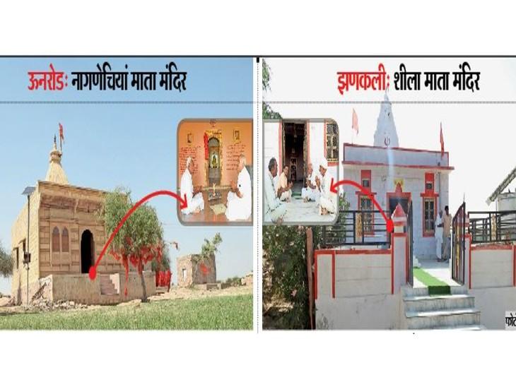 भारत-पाक बॉर्डर पर 600 साल पुराने दो देवी मंदिर, अकाल, त्रासदी और युद्धों के साक्षी, हिंदू-मुस्लिम चढ़ाते हैं प्रसाद व करते हैं जोत|बाड़मेर,Barmer - Dainik Bhaskar