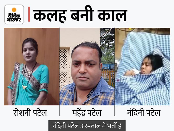 युवक ने छोटे भाई की पत्नी की गला घोंट हत्या की, बचाने आई बीवी पर चाकू से 4-5 वार किए, फिर खुद फंदे से झूला|जबलपुर,Jabalpur - Dainik Bhaskar