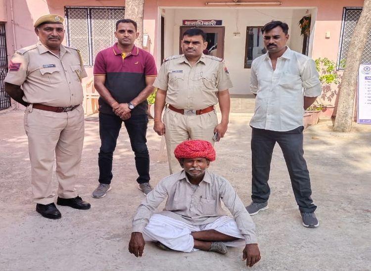 खारिया सोढ़ा गांव में बाड़े में अरण्डी की फसल के बीच उगाए गांजे के पौधे, 60 साल का बुजुर्ग गिरफ्तार|पाली,Pali - Dainik Bhaskar