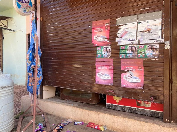 दुकान का शटर तोड़कर चोरी की वारदात को अंजाम, सीसीटीवी कैमरे व हार्डडिस्क भी ले गए अपने साथ भीलवाड़ा,Bhilwara - Dainik Bhaskar