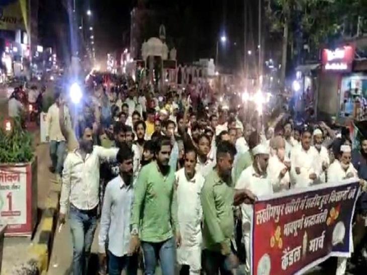लखीमपुर खीरी घटना के विरोध में कार्यकर्ताओं ने निकाला कैंडल मार्च,केंद्रीय गृह राज्यमंत्री अजय मिश्रा के बेटे को सजा देने की मांग|सीकर,Sikar - Dainik Bhaskar