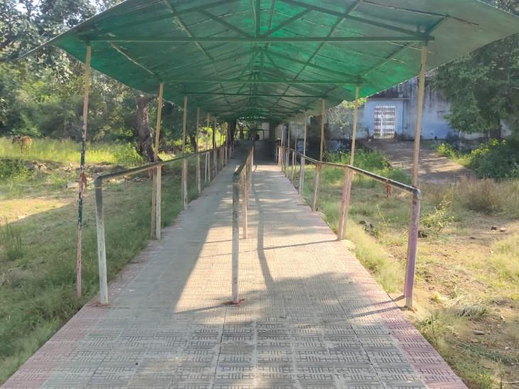 मंदिर परिसर के बाहर का हिस्सा।