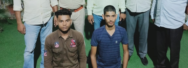 श्रीगंगानगर में पुलिस की गिरफ्त में आरोपी। - Dainik Bhaskar