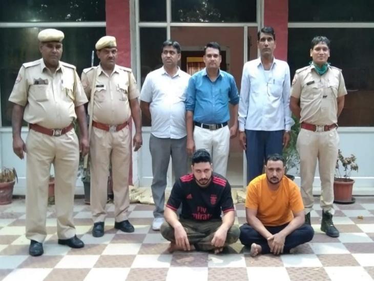 पुलिस की गिरफ्त मेंं आए आरोपी। - Dainik Bhaskar