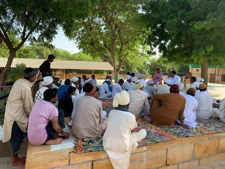 कैबिनेट मंत्री शाले मोहम्मद के गांव में जनसुनवाई।