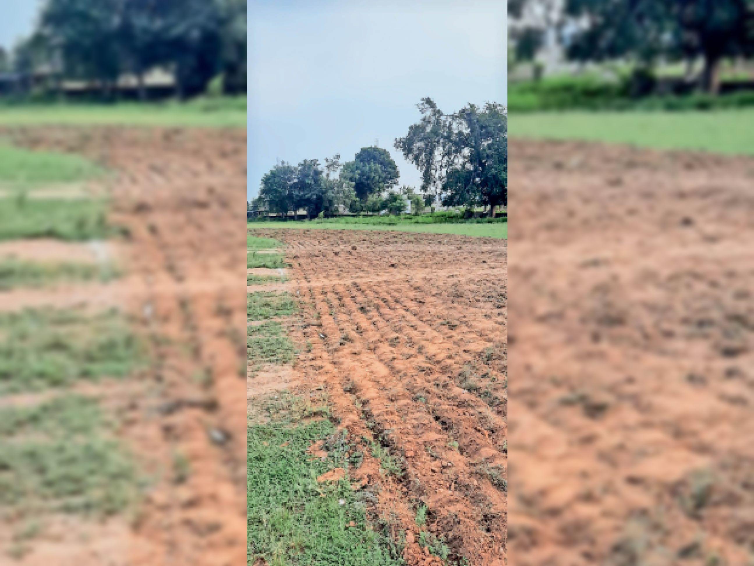 राउमावी में ट्रेक बनाने के लिए मैदान के बीच में खोदा गया। - Dainik Bhaskar