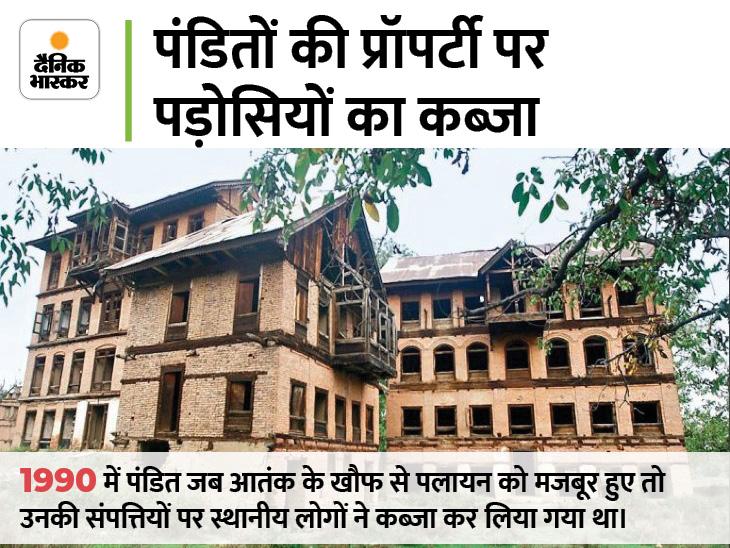 कश्मीरी पंडितों की 1000 संपत्तियों से कब्जे छुड़ाए, ये भी गैरमुस्लिमों पर हमलों की वजह|देश,National - Dainik Bhaskar