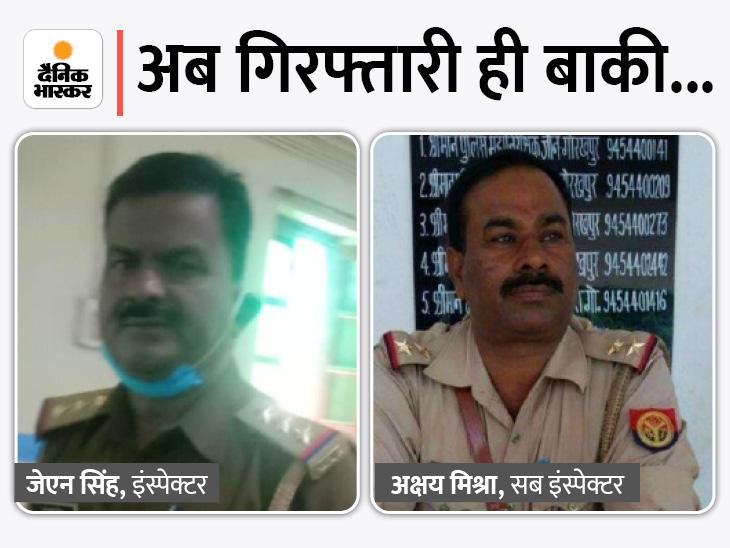गुड़गांव से कानपुर पहुंचे मृतक मनीष के दोस्त हरबीर सिंह और प्रदीप सिंह गोरखपुर आने के बजाय गुरुवार की शाम गुड़गांव वापस लौट गए। - Dainik Bhaskar