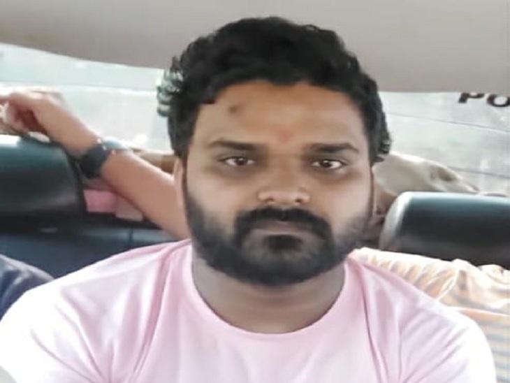 दिल्ली से पकड़ा गया जालसाजी का आरोपी हेमंत कुमारमौर्य। - Dainik Bhaskar