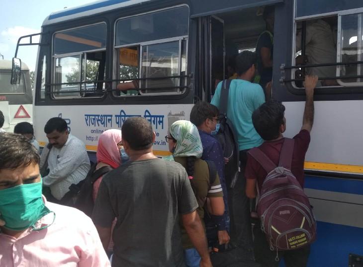 परीक्षा से एक दिन पहले और एक दिन बाद तक रोडवेज बसों में सफर कर सकेंगे आवेदक, स्टेनोग्राफर एग्जाम में भी सुविधा मिलेगी|जयपुर,Jaipur - Dainik Bhaskar