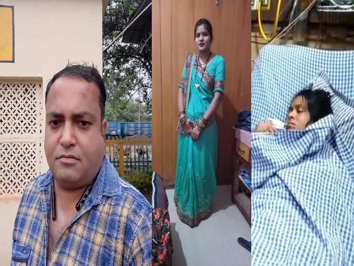 जबलपुर में हत्या-सुसाइड मामले में नया एंगल आया सामने, पति का भाई के साथ बैठकर शराब पीना रोशनी को लगता था नागवार|जबलपुर,Jabalpur - Dainik Bhaskar