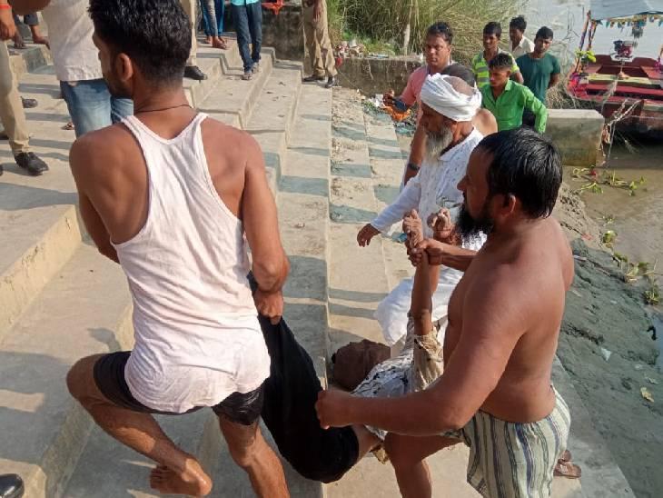 भतीजे के मुंडन संस्कार में लखनऊ से आई थी लड़की, डूबने लगी तो दूसरी लड़की उसे बचाने गई; 100 मीटर दूर मिला शव|उन्नाव,Unnao - Dainik Bhaskar