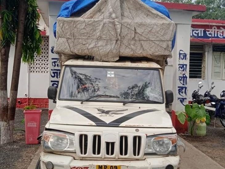 भोपाल से इंदौर आ रही पिकअप से पुलिस ने बरामद की शराब की 107 पेटी, आरोपी ड्राइवर फरार|सीहोर,Sehore - Dainik Bhaskar