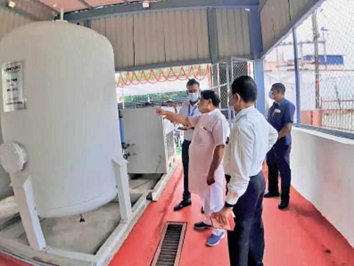 पीएम ने नए ऑक्सीजन प्लांट की वर्चुअल ओपनिंग की। - Dainik Bhaskar