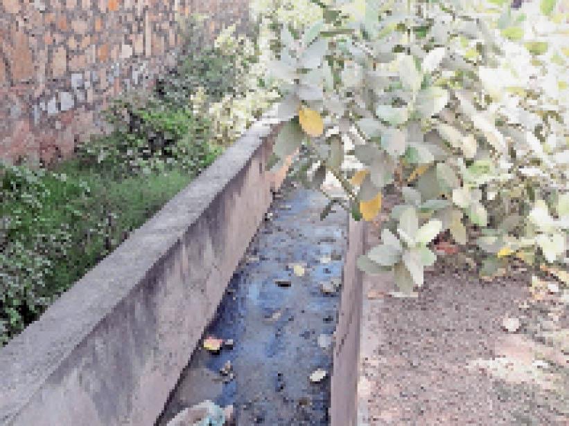 रीको औद्योगिक क्षेत्र में सफाई के अभाव में कचरे से अटे पडे नाले। - Dainik Bhaskar