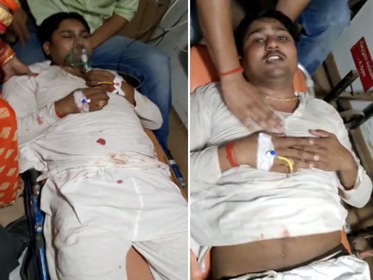पुलिस ने थाने बुलाकर व्यापारी को जमकर पीटा, गंभीर देख अस्पताल में घायल को छोड़कर भाग गई पुलिस; अब BRD में चल रहा इलाज|गोरखपुर,Gorakhpur - Dainik Bhaskar