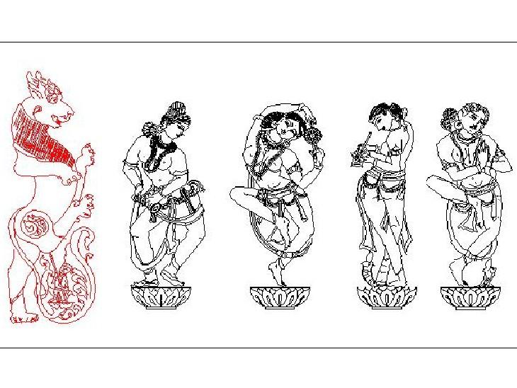 अलग-अलग तरह की करीब 309 प्रतिमाएं बनाई जाएगी मंदिर में।