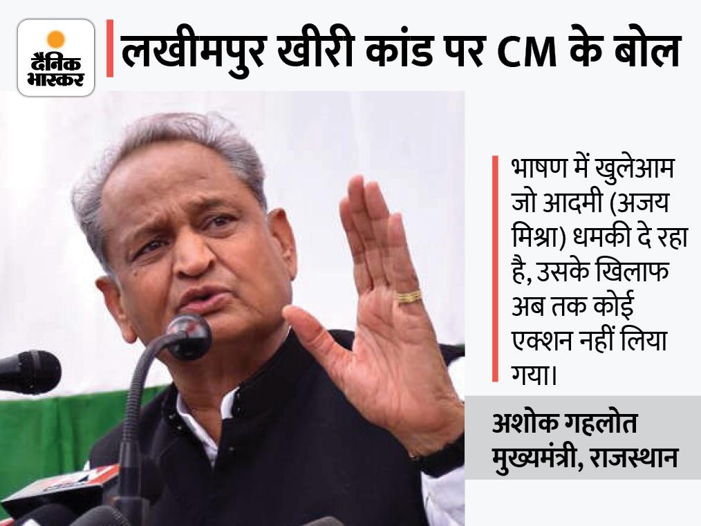 बोले- यूपी में विपक्षी पार्टियों को पीड़ितों से मिलने से रोकने की परंपरा है, मंत्री अजय मिश्रा से इस्तीफा नहीं लेना दुर्भाग्यपूर्ण|राजस्थान,Rajasthan - Dainik Bhaskar