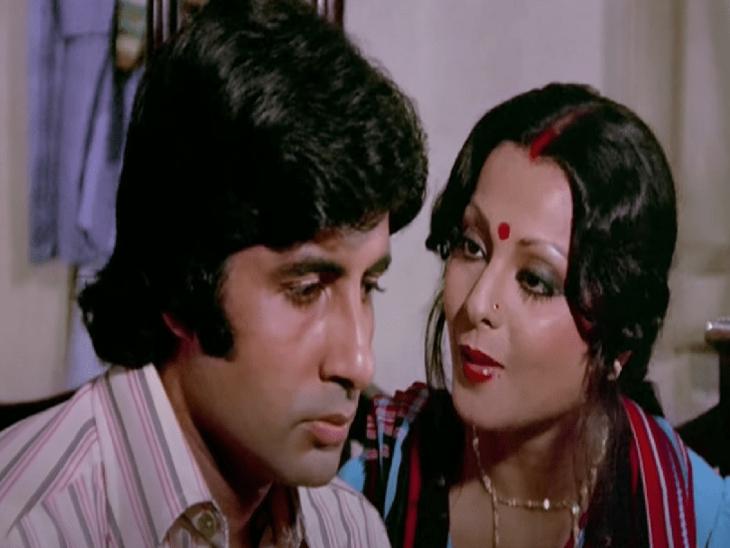 'दो अनजाने' में अमिताभ और रेखा। यह पहली मूवी थी जिसमें ये दोनों एक्टर पहली बार एक जोड़ी के रूप में आए थे। - Dainik Bhaskar