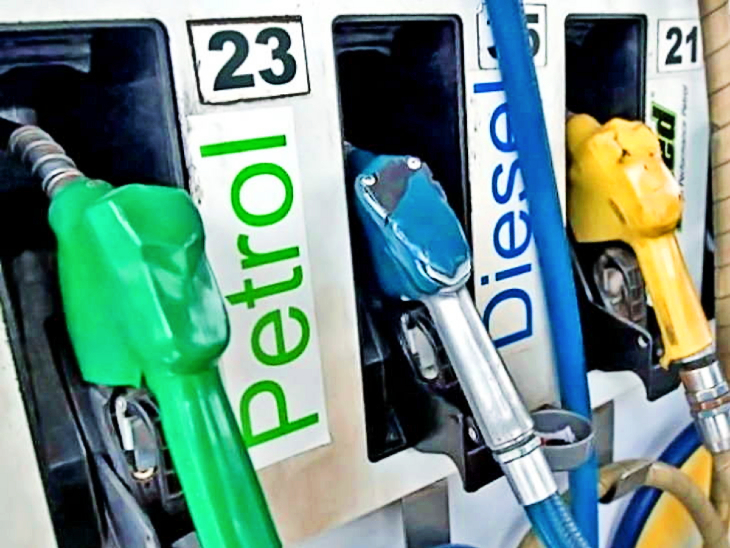 9 दिन में 8 बार बढ़े पेट्रोल-डीजल के दाम; जयपुर में डीजल 101 रुपए 94 पैसे और पेट्रोल के दाम 110 रुपए 92 पैसे हुए|जयपुर,Jaipur - Dainik Bhaskar