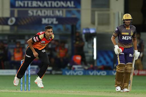 उमरान ने कोलकाता नाइट राइडर्स के खिलाफ 152.95 की स्पीड से गेंद फेंकी।