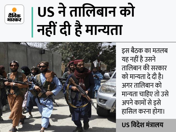 अफगानिस्तान से सेना वापस बुलाने के बाद पहली बार तालिबानी प्रतिनिधियों से मुलाकात करेंगे अमेरिकी अधिकारी|विदेश,International - Dainik Bhaskar