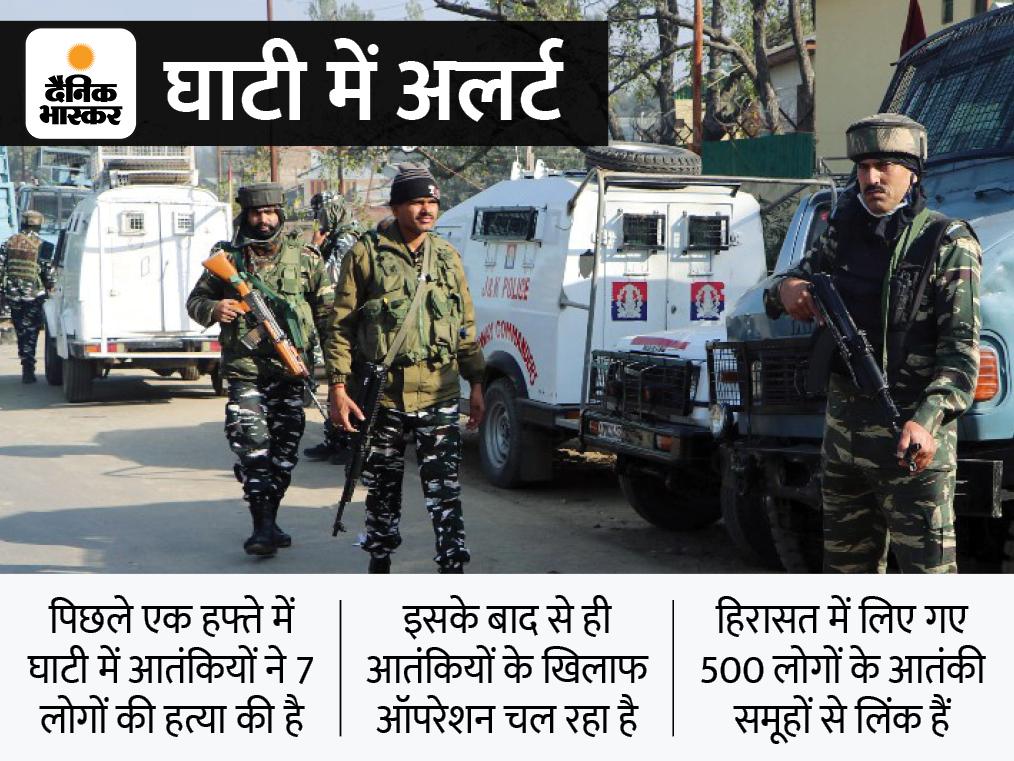 कश्मीर में आतंकियों के मददगार होने के शक में 700 से ज्यादा लोग हिरासत में, एक हत्या में शामिल 4 संदिग्ध अरेस्ट देश,National - Dainik Bhaskar