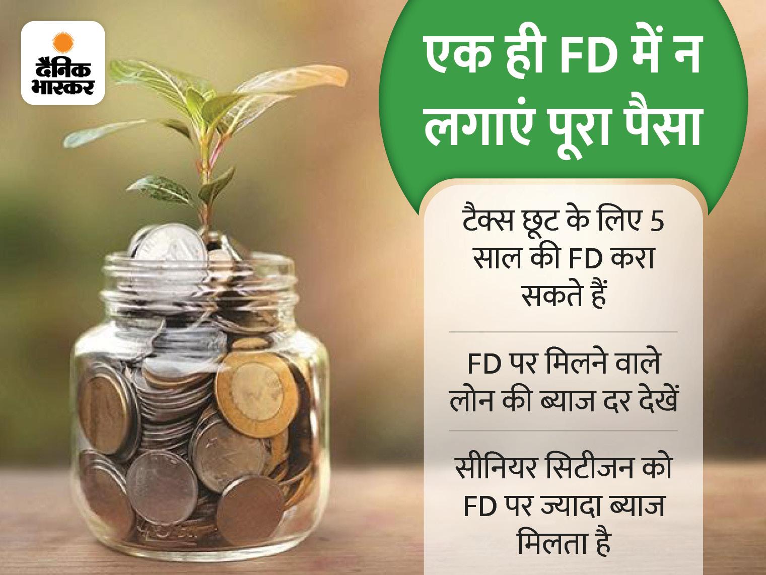 एक ही FD में न लगाएं अपना पूरा पैसा, अवधि का भी रखें ध्यान; इन 6 बातों का रखेंगे ध्यान तो होगा फायदा|बिजनेस,Business - Dainik Bhaskar
