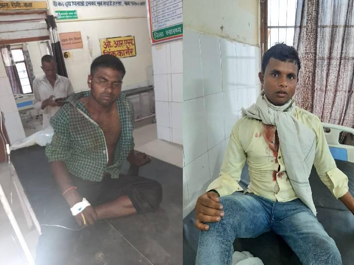 5 मिनट तक चली 2 किसानों की तेंदुए के साथ जंग, खेतों में काम करने गए थे; इलाज के लिए अस्पताल में भर्ती हुए|बहराइच,Bahraich - Dainik Bhaskar