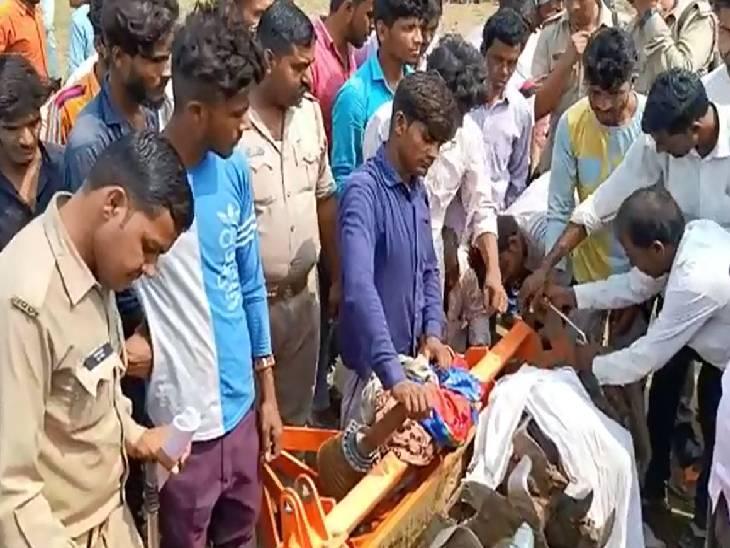 ग्रामीणों को रोटावेटर में फंसा मिला शव, चालक की मौत के बाद खेत मालिक हुआ फरार; परिजनों ने लगाया हत्या का आरोप|संभल,Sambhal - Dainik Bhaskar