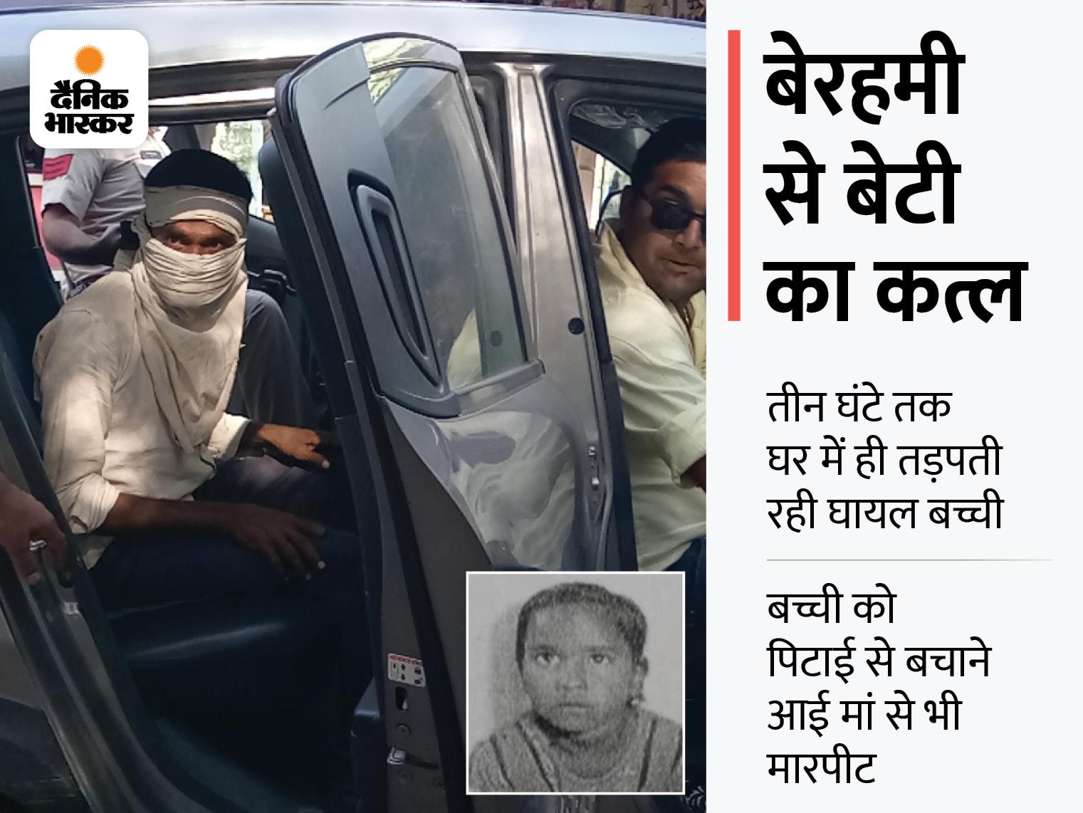 गरबा देखकर लौटते ही 10 साल की बेटी को पटका, प्लायर मारकर सिर फोड़ा; 3 घंटे घर में रखा और तड़पाकर ली जान|मुरैना,Morena - Dainik Bhaskar