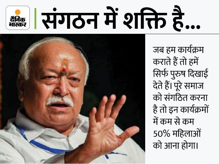 मोहन भागवत ने कहा- हिंदू शादी के लिए धर्म न बदलें, ऐसा करके वे गलती कर रहे हैं|देश,National - Dainik Bhaskar