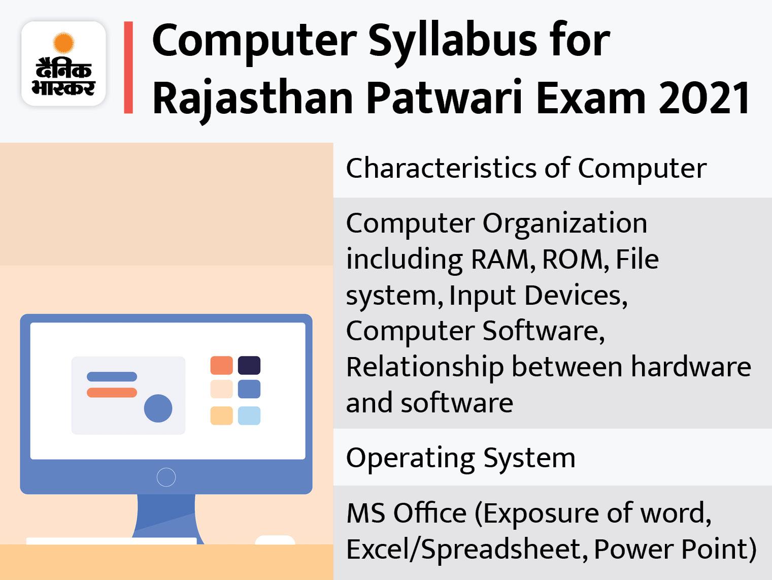 पटवारी भर्ती परीक्षा में Computer का सिलेबस रखें ध्यान में।