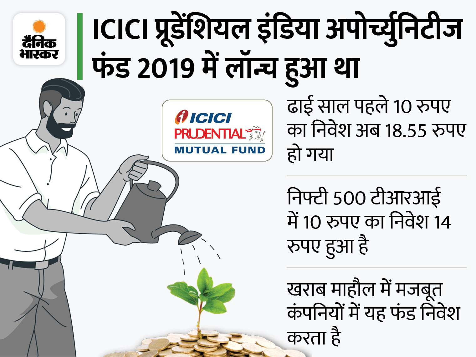 ICICI प्रूडेंशियल इंडिया अपोर्च्युनिटीज फंड का एक साल में 99.68% का रिटर्न, बेस्ट इक्विटीज प्रोडक्ट बना|बिजनेस,Business - Dainik Bhaskar