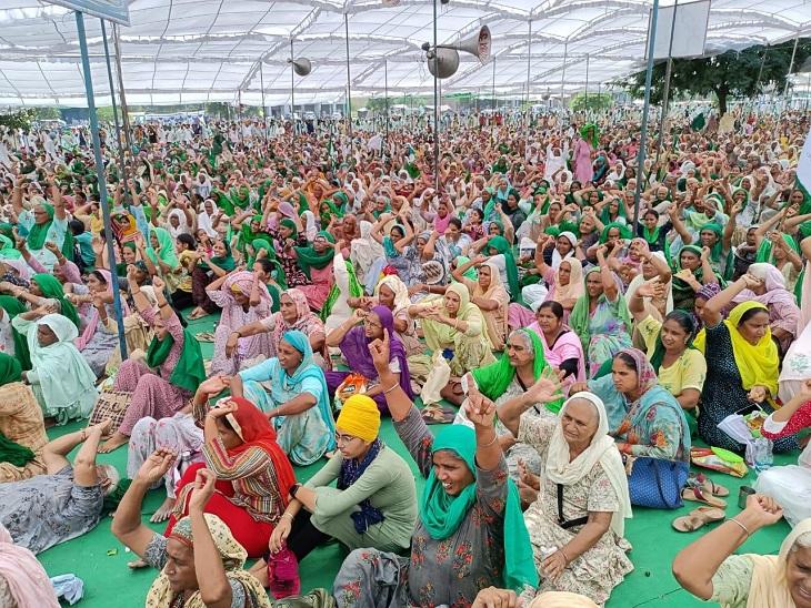 भाकियू सिद्धूपुर की रैली में जुटी भीड़; लखीमपुर के शहीदों को श्रदांजलि, वादे पूरे न करने पर पंजाब सरकार को भी चेतावनी|बठिंडा,Bathinda - Dainik Bhaskar
