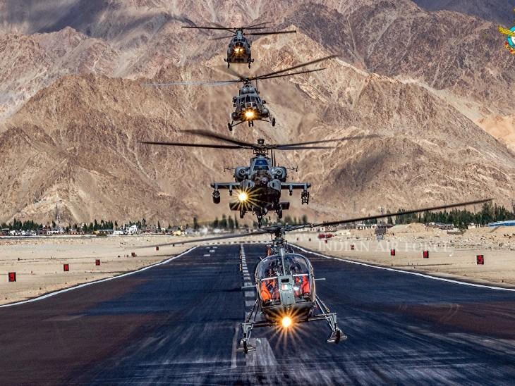 दुर्गम पहाड़ी स्थानों पर, जहां एयरपोर्ट बनाना मुश्किल होता है, वहां सेना एय स्ट्रिप बनाती है। - Dainik Bhaskar