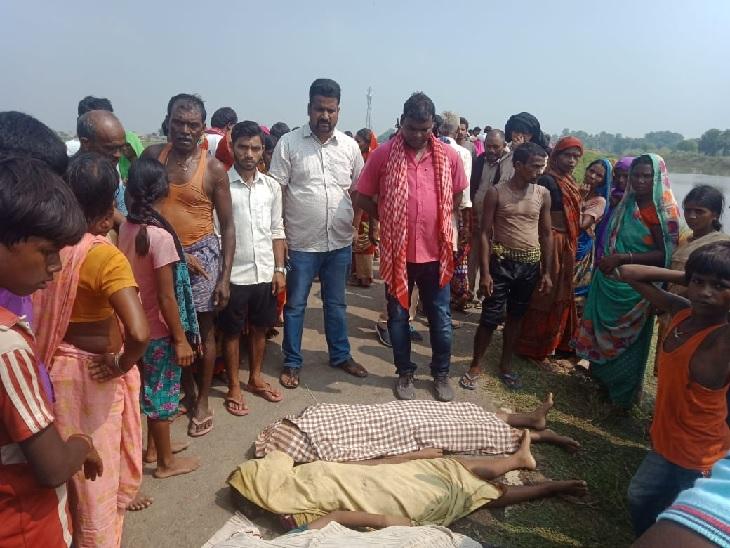 कपड़ा धोने के दौरान पैर फिसलने से एक बच्ची गहरे पानी में गिरी, बचाने गईं एक-एक करके तीन सहेलियां भी डूबीं|नालंदा,Nalanda - Dainik Bhaskar