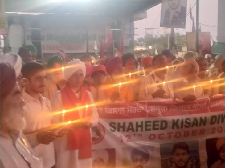 खीरी के मृतक किसानों की याद में जलाई मोमबत्तियां, मंत्री अजय मिश्र को गिरफ्तार कर बर्खास्त करने की मांग|गाजियाबाद,Ghaziabad - Dainik Bhaskar